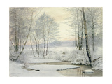Winter Sunset Giclee Print by James Thomas Watts
