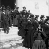 Leaving the Church Near Pescara, 1880-90 Photographic Print by Francesco Paolo Michetti