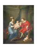 Portrait of Edward, 12th Earl of Derby and His Wife, Elizabeth Hamilton Giclee Print by Angelica Kauffmann