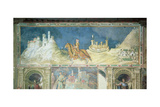 Commemoration of Guidoriccio Da Fogliano at the Siege of Montemassi, from the Sala Del… Giclée-tryk af Simone Martini