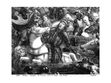 The Crossing of the Red Sea, Detail of Pharaoh on Horseback, from the Sistine Chapel Giclee Print by Cosimo Rosselli