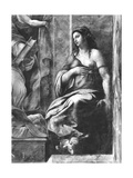 Clemency, One of the Two Virtues Surrounding Pope St. Clement I (1-97) Raphael Rooms Giclee Print by Giulio Romano