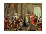 Crassus Ransacks the Temple of Jerusalem, 1743 Giclée-tryk af Giovanni Battista Pittoni