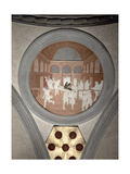 The Raising of Drusiana, Spandrel Medallion, c.1425 Giclee Print by  Donatello