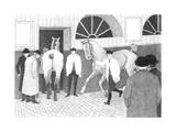The Horse Mart (Barbican No.1) 1920 Giclee Print by Robert Polhill Bevan