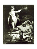 Psyche Surprising Cupid Giclee Print by Jacopo Zucchi