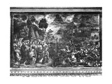 The Crossing of the Red Sea, from the Sistine Chapel Giclée-tryk af Cosimo Rosselli