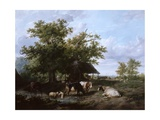 Landscape with Cattle, 1832 Giclee Print by Thomas Sidney Cooper