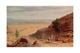 The Road Between Jerusalem and Jericho Giclée-Druck von Hubert von Herkomer