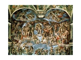 Last Judgement, from the Sistine Chapel, 1538-41 Giclee Print by  Michelangelo Buonarroti