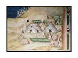 Commemoration of Guidoriccio Da Fogliano at the Siege of Montemassi, Detail of the Military… Giclee Print by Simone Martini