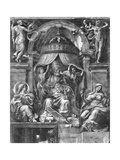 St. Peter Between Church and Eternity, Raphael Rooms Giclee Print by Giulio Romano