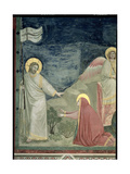 Noli Me Tangere, Detail of Christ and Mary Magdalene, c.1305 Giclee Print by  Giotto di Bondone
