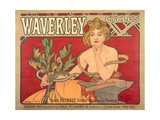 Poster Advertising 'Waverley Cycles', 1898 Giclee Print by Alphonse Marie Mucha