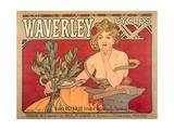 Poster Advertising 'Waverley Cycles', 1898 Lámina giclée por Mucha, Alphonse Marie