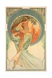 The Arts: Poetry, 1898 Giclée-trykk av Alphonse Mucha