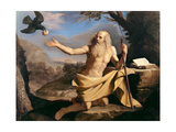 St. Paul the Hermit Being Fed by the Raven Giclee Print by  Guercino (Giovanni Francesco Barbieri)