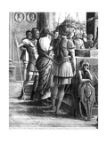 St. James the Great Brought before King Herod Agrippa (Detail) Giclee Print by Andrea Mantegna