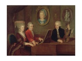 The Mozart Family, 1780-81 Giclee Print by Johann Nepomuk della Croce