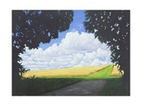 The Wessex Ridgeway Path as it Exits Woodland and Crosses Cotley Hill, Summertime, 2008 Giclee Print by Peter Breeden