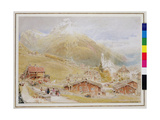 Engelberg, Sunday Morning, c.1909-11 Giclee Print by Albert Goodwin