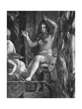 Truth, One of the Two Virtues Surrounding Pope St. Leo I the Great (C.390-461) Raphael Rooms Giclee Print by Giulio Romano