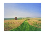 The Wessex Ridgeway Path as it Crosses Cotley Hill. Evening Light 1, 2008 Giclee Print by Peter Breeden