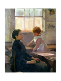 School Is Out, 1889 (Detail) Giclee Print by Elizabeth Adela Stanhope Forbes