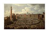 The Palio, Piazza Del Campo, Siena Giclee Print by Giuseppe Zocchi