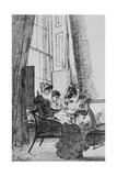 Three Women in a Georgian Interior, 24th May 1823 Giclee Print by John Harden