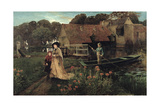 Goring Mill and Weir, Near Streatley, Berkshire Giclee Print by Charles Napier Hemy