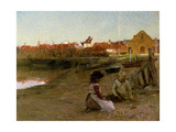Playing on the Shingle, 1885 Giclee Print by Walter Frederick Osborne