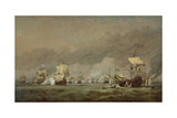 The Four Days' Battle, the Hollandia Disabled, 1st-4th June 1666 Giclée-Druck von Willem Van De, The Younger Velde