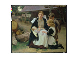 The New Baby, c.1886-88 Giclee Print by Alexander Mann
