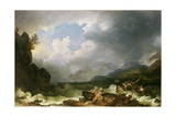 Belle Isle Windermere in a Storm Giclee Print by Philip James De Loutherbourg