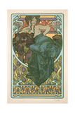 Plate 47 from 'Documents Decoratifs', 1902 Giclee Print by Alphonse Mucha