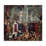 The Martyrdom of St Theodore Giclée-tryk af Paris Bordone