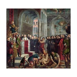 The Martyrdom of St Theodore Giclee Print by Paris Bordone