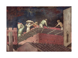 Effects of Good Government in the City, Detail of Workers Building a House, 1338-40 Giclee Print by Ambrogio Lorenzetti