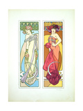 Plate 45 from 'Documents Decoratifs', 1902 Giclee Print by Alphonse Mucha