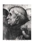 Portrait of Savonarola (1452-98) from La Disputa in the Stanza Della Segnatura, 1508-11 Reproduction procédé giclée par  Raphael
