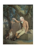 Portrait of Sir Horatio Mann (1744-1814) with His Hound, c.1785 Giclee Print by Hugh Douglas Hamilton