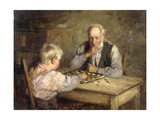The Draughts Players Giclee Print by Robert Gemmell Hutchison
