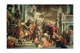 St. Sebastian Inciting Marcellus and Marcellinus Who are Being Led to Martyrdom, 1558 Giclee Print by Paolo Veronese