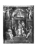 Pope Leo I the Great (C.390-461) Between Two Virtues, Raphael Rooms Giclee Print by Giulio Romano
