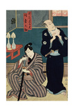 Two Actors as Izutu Budayu and Izutsu Matsurinosuke, 1857 Giclee Print by  Toyokuni