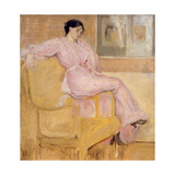 Mrs Conder in Pink Giclee Print by Charles Edward Conder