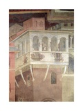 Allegory of Bad Government, Detail of the Demolition of a House, 1338-40 Giclee Print by Ambrogio Lorenzetti