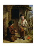 Boys Playing with Marbles, 1855 Giclee Print by David Hardy