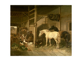 Stable Interior Giclee Print by John Frederick Herring I
